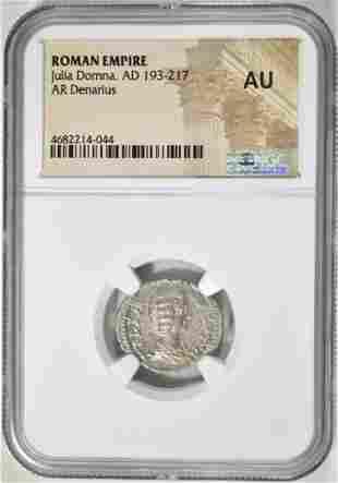 AD 193-217 JULIA DOMNA, AR DENARIUS NGC AU