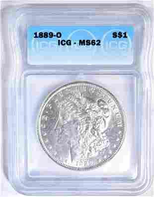 1889-O MORGAN DOLLAR ICG MS-62