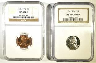 2-NGC GRADED SMS COINS: