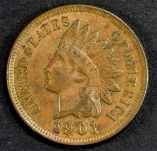 1901 INDIAN HEAD CENT CH BU BN