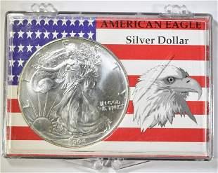 1994 AMERICAN SILVER EAGLE BU BETTER DATE