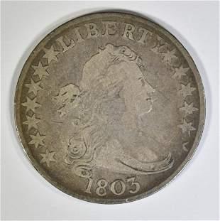 1803 BUST HALF DOLLAR VF