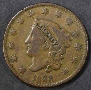 1833 LARGE CENT VF+