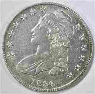 1836 BUST HALF DOLLAR XF/AU