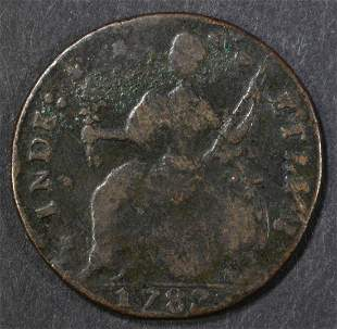 1787 CONNECTICUT COLONIAL G/VG SOME CORROSION