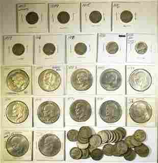 MIXED LOT OF TYPE COINS:
