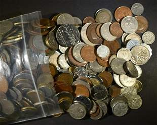 6 LBS MIXED FOREIGN COINS