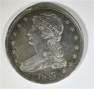 1837 BUST HALF DOLLAR BU RIM BUMP