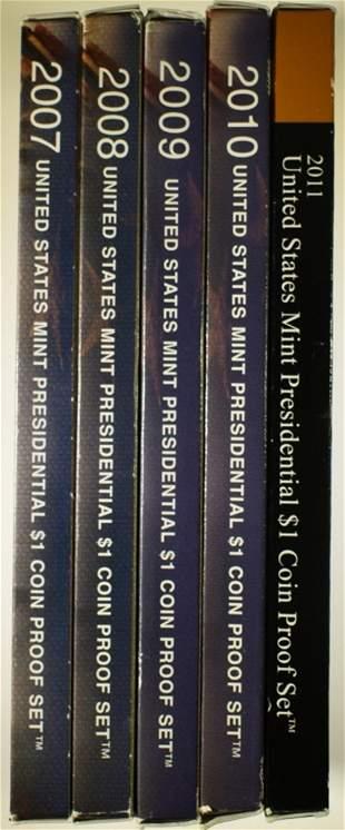 2007-11 U.S. PRESIDENTIAL PROOF SETS
