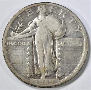 1919-D STANDING LIBERTY QUARTER VF