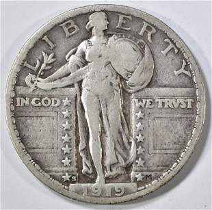 1919-S STANDING LIBERTY QUARTER VF+