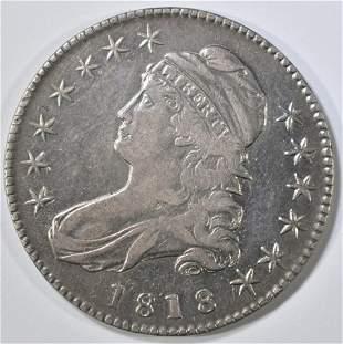 1818 BUST HALF DOLLAR NICE AU