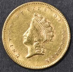 1855 TYPE 2 GOLD DOLLAR NICE BU