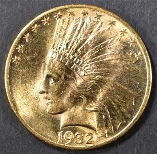 1932 GOLD $10 INDIAN HEAD CH BU