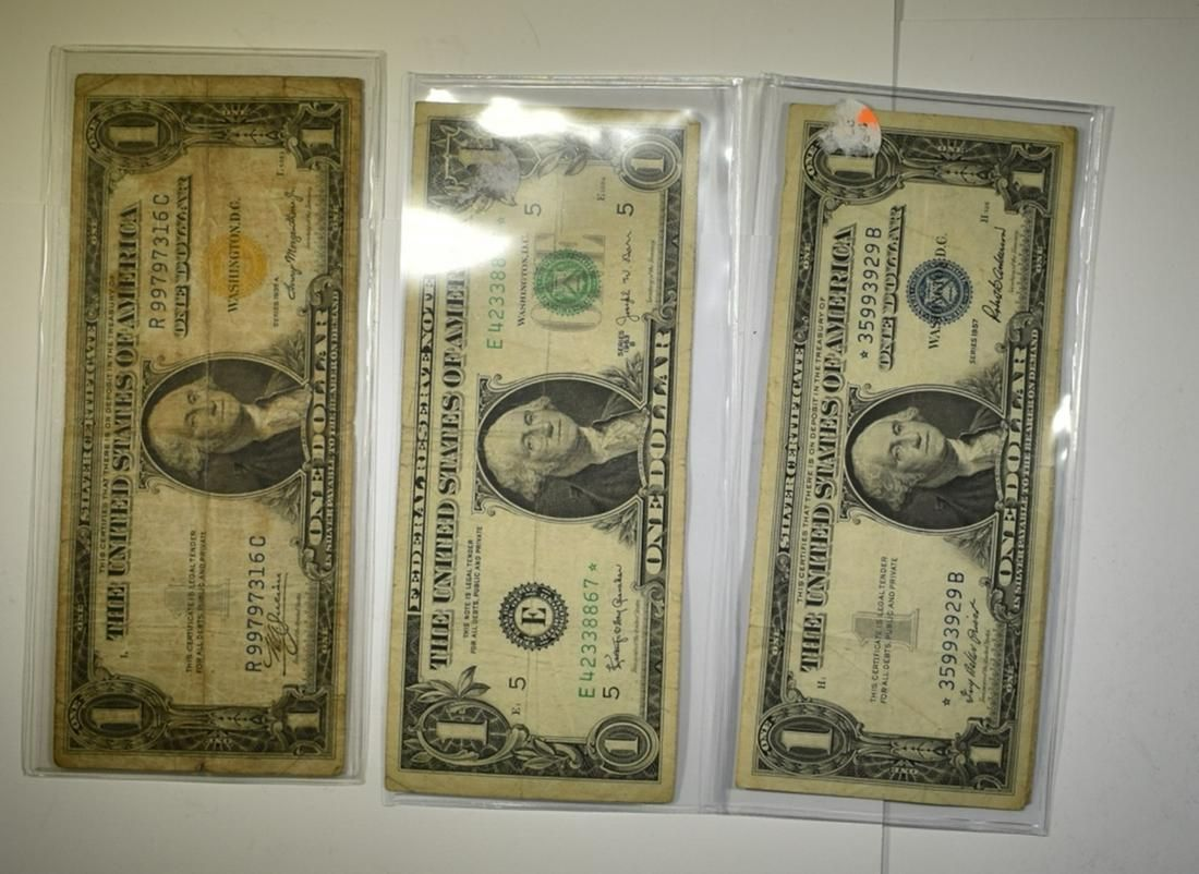 LOT OF 5 $1.00 MIXED CURRENCY: