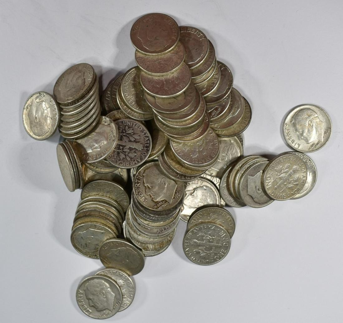 $10 FACE VALUE 90% SILVER DIMES