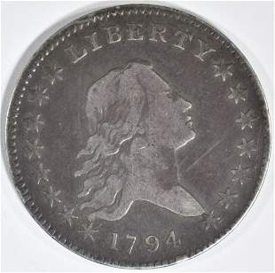 1794 FLOWING HAIR HALF DOLLAR VF