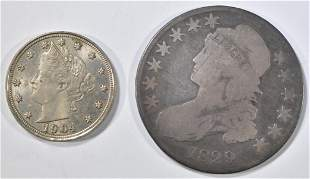 LOT OF 2 TYPE COINS: