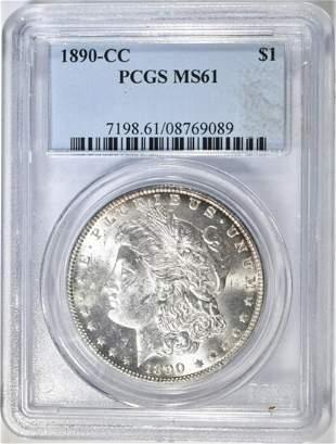 1890-CC MORGAN DOLLAR PCGS MS-61