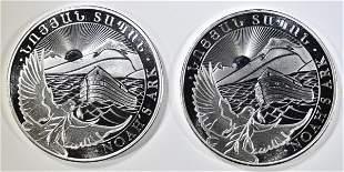 2-2021 ARMENIA 1oz SILVER NOAH'S ARK COINS