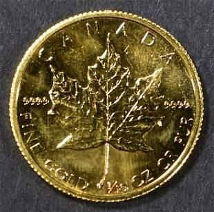 1982 1/10 oz FINE GOLD CANADA MAPLE LEAF