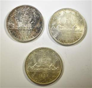 3-1965 CANADIAN SILVER DOLLARS