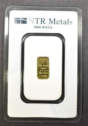 1/10 OZ .999 GOLD BAR NTR METALS