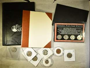 MIXED COIN LOT INCLUDES:1865 2-CENT PC,