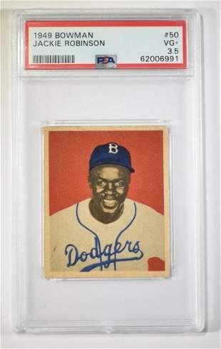 1949 BOWMAN JACKIE ROBINSON #50 PSA VG+ 3.5