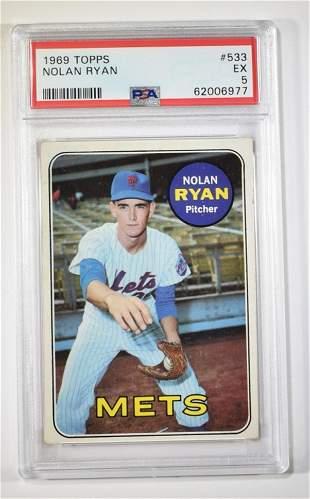 1969 TOPPS NOLAN RYAN #533 PSA EX 5