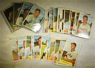 48 DIFFERENT 1954 BOWMAN BASEBALL CARDS VG-EX