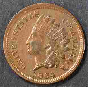 1864 BRONZE INDIAN CENT XF