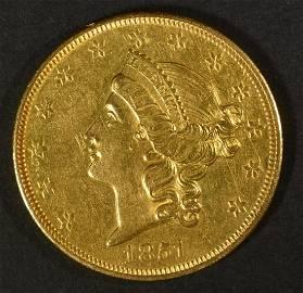 1851-O $20 GOLD LIBERTY  NICE BU