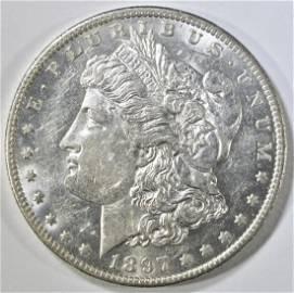 1897-O MORGAN DOLLAR   GEM BU