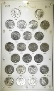 1921-1935 PEACE DOLLAR SET IN CAPITAL PLASTIC