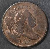 1794 HALF CENT  XF   OLD CLEANING