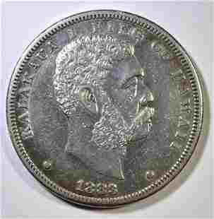1883 HAWAII DOLLAR AU