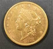 1874-CC GOLD $20 LIBERTY  CH AU/BU