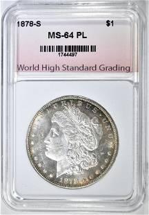 1878-S MORGAN DOLLAR WHSG CH/GEM BU PL