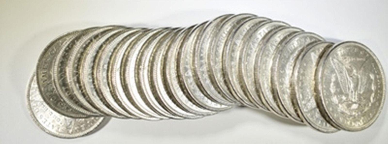 ROLL OF 1899 AU/BU MORGAN DOLLARS