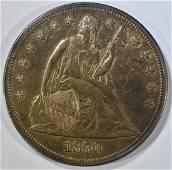 1870-CC SEATED LIBERTY DOLLAR  CH AU