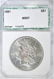 1881 MORGAN DOLLAR PCI SUPERB GEM BU