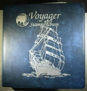 VOYAGER STAMP ALBUM WITH STAMPS