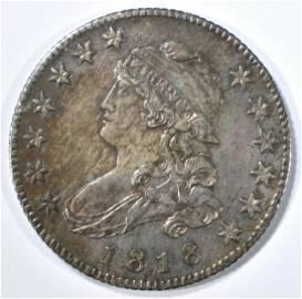 1818 BUST QUARTER  CH BU