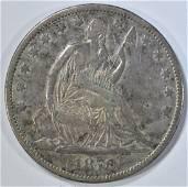 1870-CC SEATED LIBERTY HALF DOLLAR  FINE