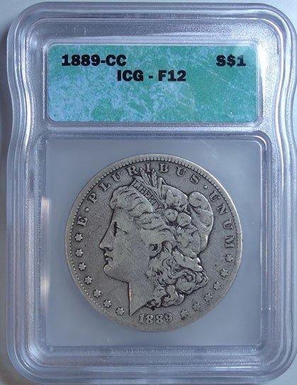 5: 1889-CC Morgan Dollar ICG Fine 12