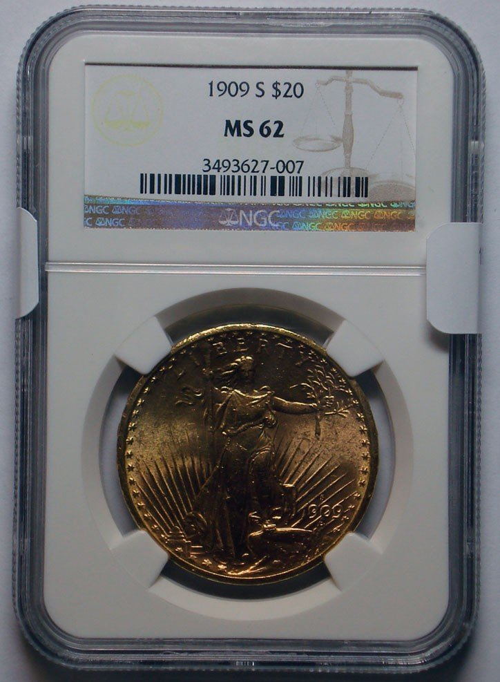 11: 1909S $20 GOLD  NGC62