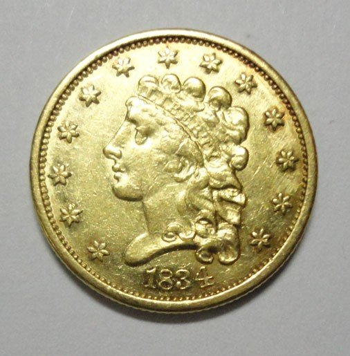 14: 1834 $2.50 Gold Liberty Classic Head No Motto AU