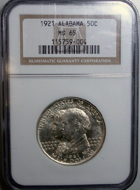 17: 1921  Alabama  half $  NGC65   65 GS bid = $1175