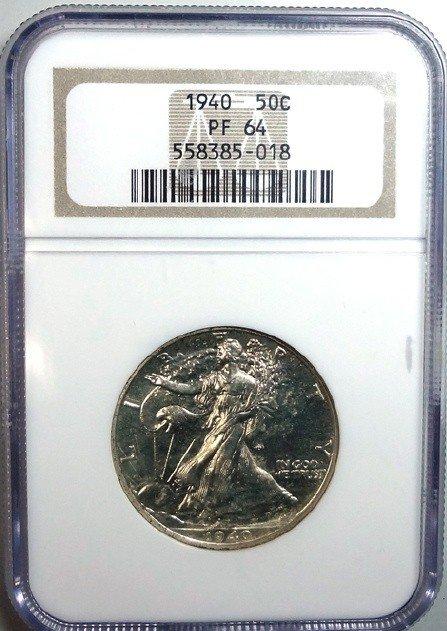 19: 1940 proof Walker half $  NGC PF64
